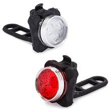 High Quality Bright Cycling Bicycle Bike 3 LED Head Front light 4 modes USB Rechargeable Tail Clip Light Lamp Waterproof D30 waterproof 800 lumen xml 2 led 4 modes usb bicycle head light cycling front lamp with temperature control for riding camping