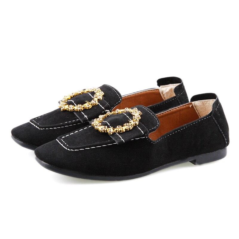 Haricots Femmes Rétro Carré De Chaussures Troupeau Mou Pompes Fond Printemps Brown Occasionnels Et Automne Nouveau Style 6r6wUq8
