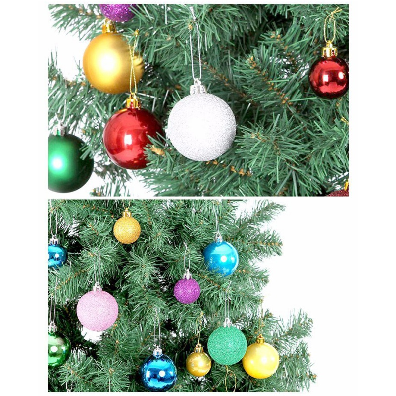 24pcs 3cm Christmas Ball Ornament Tree Balls Bauble Xmas Party Hanging Ornament for Home Wedding Christmas decorations Gift(China)