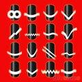 Novo 2 Pcs Chic DIY 18 estilo Manicure francês do prego Art Tips fita guia de etiqueta Stencil 6Q36 7GYF