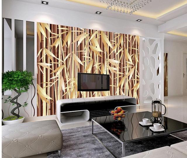 Bambus Im Wohnzimmer kundenspezifische wallpaper für wände foto 3d tapeten bambus