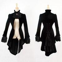 Punk Fashion Men S Gothic Swallowtail Long Coat Steampunk Palace Black Slim Fitting Gentleman Dress Jacket