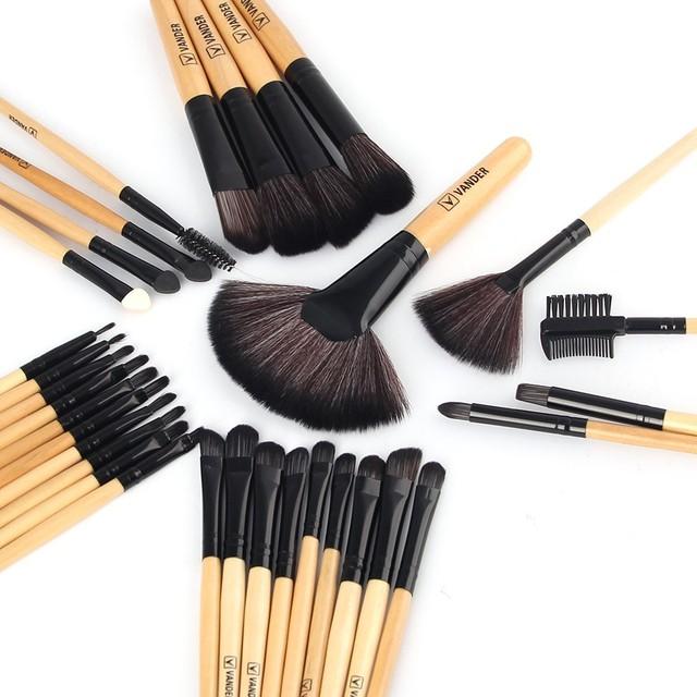 VANDER 32 Pcs Ensemble de Maquillage Professionnel Fondation Ombres à Paupières Rouges À Lèvres Poudre Pinceaux de Maquillage Outils w/Sac pincel maquiagem