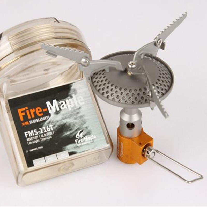 New Fire Maple Titanium Stove Camping Cook Gas Burners Backpack Stove Stufe EsterneOutdoor Camping Kitchenware FMS-116T 2300W