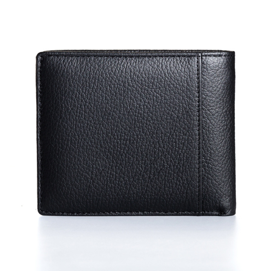 d5ed31cb57c Genuine Leather Wallet Men Coin Pocket Purse Carteira Masculina Brand  Wallet Male Trifold Black Brown Cowhide Wallet