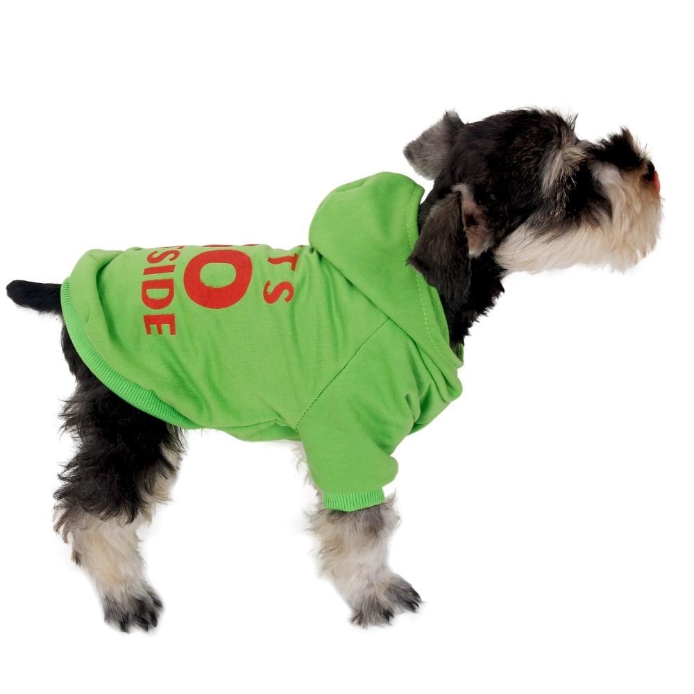 Pet Winter Clothes Dog Sweater Warm Puppy Coat Lets Go Outside Sweatshirt S-XXL Sizes Pu ...