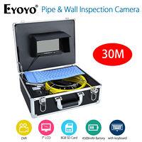 EYOYO 7inch LCD Screen 30M HD 1000TVL 4500MAh Sewer Drain Camera Pipe Wall Inspection Endoscope Cam