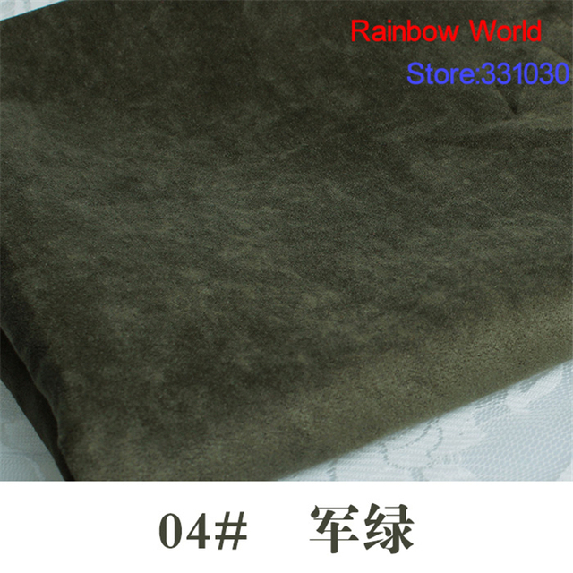 04# army green 1 meter suede nap fabric for DIY Sofa pillow bag colthes overcoat hat shoe material