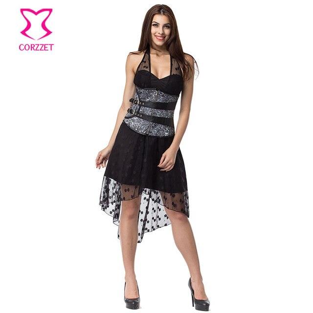 Kleider schwarz silber