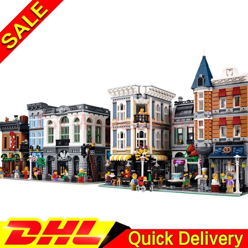 LEPIN 15001 Brick Bank LEPIN 15019 Assembly Square LEPIN 15011 Detectives Office Model Building Street Sight Blocks Bricks
