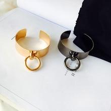 Европа и США Панк Минималистичная Мода крутое кольцо гладкие металлические кольца ювелирные браслеты аксессуары FF88F
