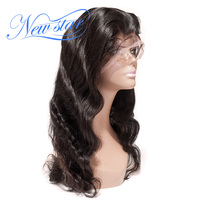 New Star Hair Glueless Full Lace Wig Brazilian Body Wave Virgin Human Hair 130% Density Pre Plucked Lace Wig Bleached Knots