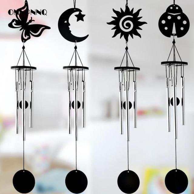 bells metallic decorative wind chimes butterfly moon interior pendants wind chimes metal bells crafts trinket home