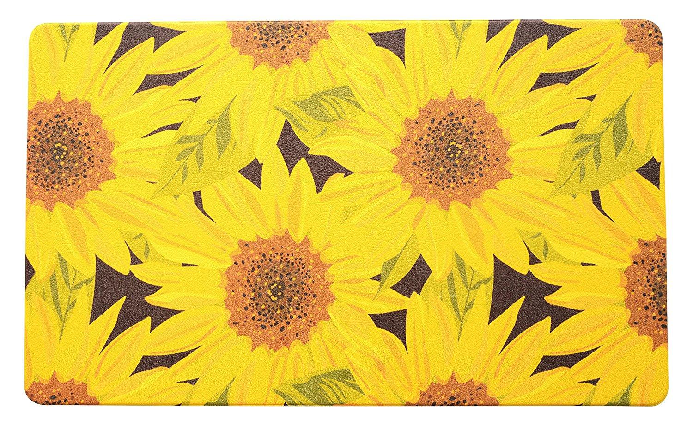 Anti Fatigue Sunflower Kitchen Doormat Kitchen Floor Outdoor Garage Rug Entry Way Home Decor
