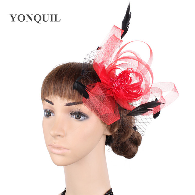 90e12c4d20a mini top hat fashion Feather hair accessories Fascinator Fancy Dress  headwear party hats headpieces Free shipping multiple color