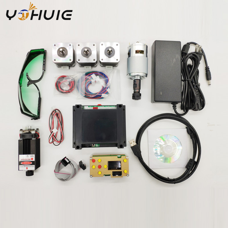 YOHUIE V3 3 150W GRBL 3 axis CNC control system Laser engraving machine stepper spindle motor