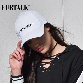 FURTALK White Black Baseball Cap for Women Men Snapback  Baseball Cap Summer Casual Hat 2