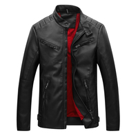BOLUBAO Leather Jacket Men Plus Velvet Thick Warm Leather Jackets Men Washing Pu Leather Motorcycle Jackets For Male Coat
