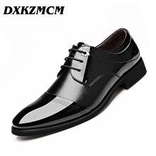 Oxford Schuhe Für Männer Kleid Schuhe Leder Büro Schuhe frühling Sommer Zapatos Hombre Schwarz Herren Oxfords