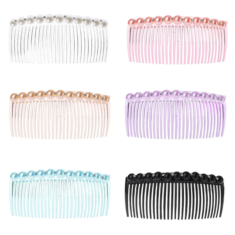 4 PCS 4 inches 29 teeth Plastic Comb Hair Clip Clamp Side Hair Comb Combs for