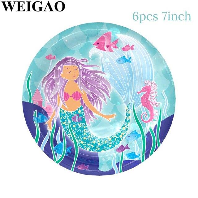 Plate Mermaid party plates 5c64f5cb314ca