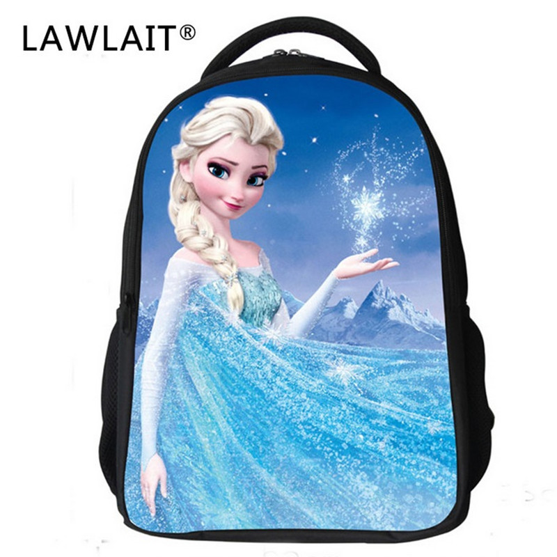 3D Children School Bags Elsa Anna Bags Cartoon Backpack For Kids Girls Boys Mochila Infantil First Grade Bags