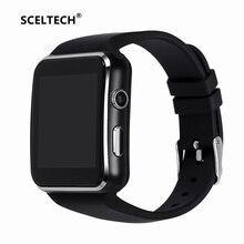Купить SCELTECH Bluetooth Smart часы X6 Спорт Шагомер Smartwatch с Камера Поддержка sim-карты Whatsapp Facebook для телефона Android
