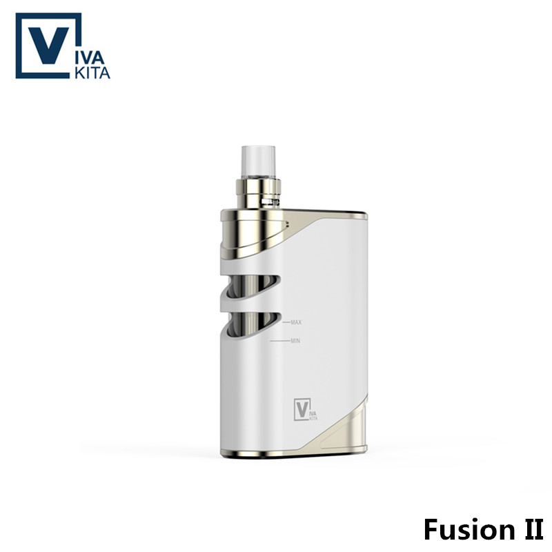 Vaporizer Fusion 2 Vape Kit 2100mAh electronic cigarette 50W vapor kit 2.0ml child-lock atomizer 2100mah built in battery mod