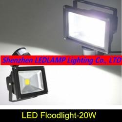 Светодиодный прожектор с пассивным ИК датчиком движения, 20 Вт, теплый/белый, 110 В, 120 В, 220 В, светодиодный в