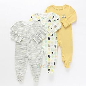 Детские комбинезоны; Комплект из 3 предметов; Пижама с цветочным рисунком для маленьких девочек; Одежда для новорожденных мальчиков; Комбин...