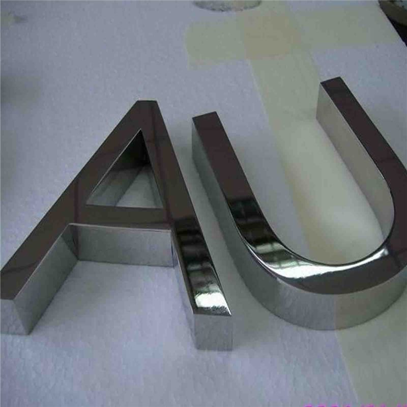 Factoy Outlet Outdoor fine workmanship 304# mirror face stainless steel sign