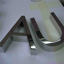 Factory Outlet Outdoor fine workmanship 304# mirror face stainless steel sign