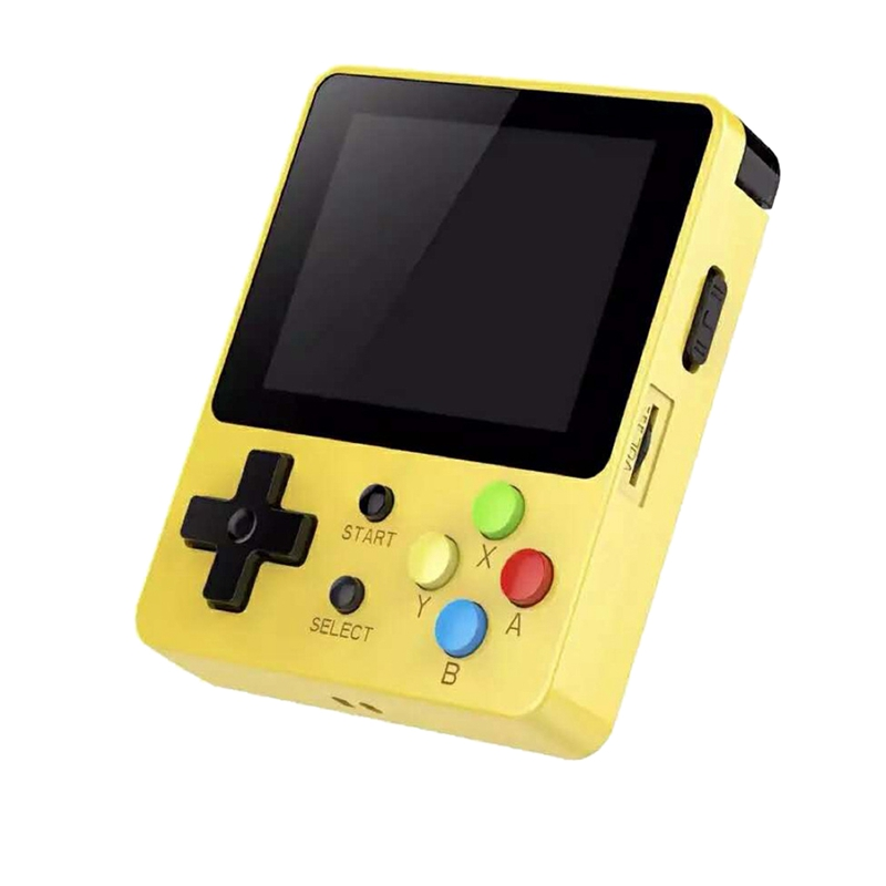 Console de jeu Portable 16G 2.6 pouces couleur Lcd pour Ps1/Cps/Neogeo/Gba/Nes//Mdgbc/Gb/Atari jeux Console de jeu Portable jaune