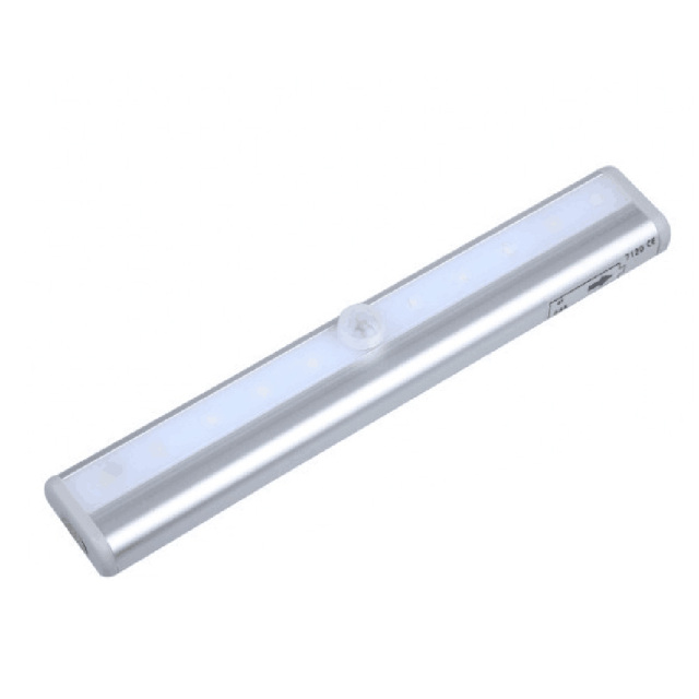 LED Motion Sensor LED Night Light Lamp With For Hallway Pathway Staircase Magnetic Strip Wall Lighting