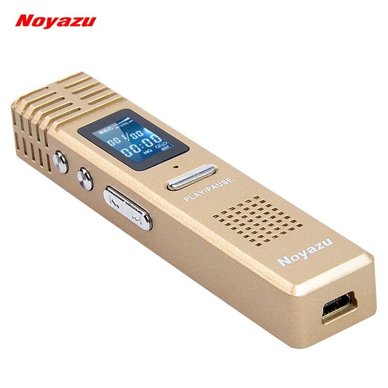 NOYAZU X1 8 GB Professionnel Vocal Numérique Enregistreur VOR Dictaphone Grande Capacité D'enregistrement Mp3 Cadeaux D'affaires Or