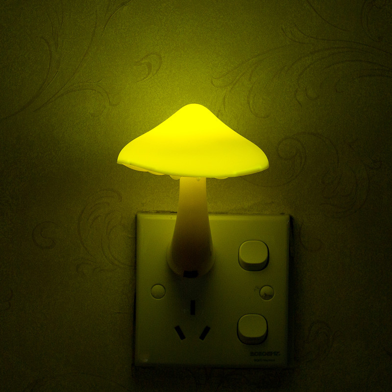 UE EE. UU. Enchufe LED Luz nocturna Seta Enchufe de pared Luces - Luces nocturnas - foto 6