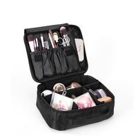 Yesello Double Layer Organizer Makeup Bag Waterproof Professional Cosmetic Bag Women Travel Handbag