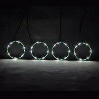RGBW Angel Eyes Quay Vòng Lights DRL LED Cán Ánh Sáng Đa Màu Điều Khiển Không Dây RF Đối Với 1998-2004 Lexus GS300 GS430