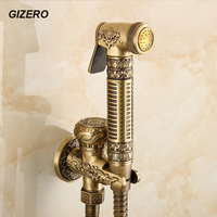 Bathroom Accessories Bidet Faucet Antique Polished Wall Mounted High Quality Toilet Cleaning bidet spray tap ZR230