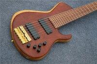 Последние готовые Fodera бас электрогитара 7 струн клен Топ натуральный назад китайские Музыкальные инструменты