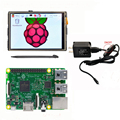 "Raspberry Pi 3 Model B Board +3.5"" LCD HDMI USB Touch Screen 1920x1080 LCD Display Audio+ 5V 2.5A Power Supply"