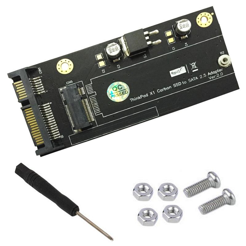 20 + 6-контактный SSD 2.-дюймовый SATA адаптер Riser конвертер карты V2.0 для lenovo Thinkpad X1 Carbon Ultrabook SSD компьютер Компоненты