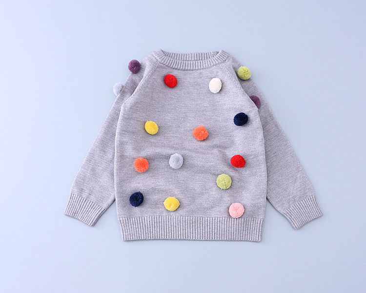 56668cb18d52 new brand children sweaters winter plush ball cotton cashmere baby ...