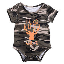 2016 wholesale newborn baby boy clothes camouflage hunting romper short sleeve cotton romper