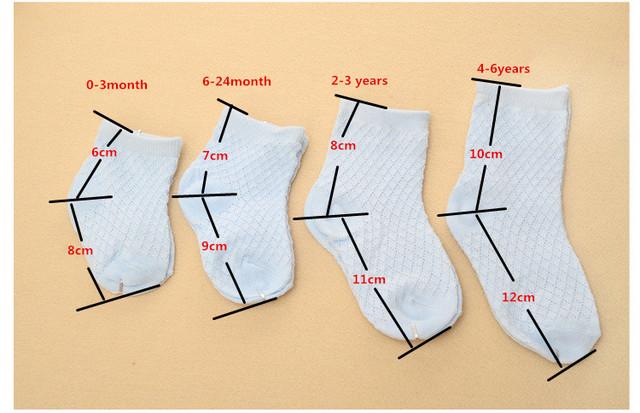 5 Pairs Soft Baby Socks