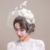 Bonito Do Marfim Flor Penas Fascinator Véus de Noiva Do Casamento Chapéus Rosto Birdcage Nupcial Em Estoque