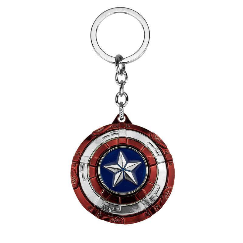 2019 Marvel Avengers Thor của Búa Mjolnir Móc Khóa Khiên Captain America Hulk Batman Người Sắt Móc Khóa Thanos Keyrings