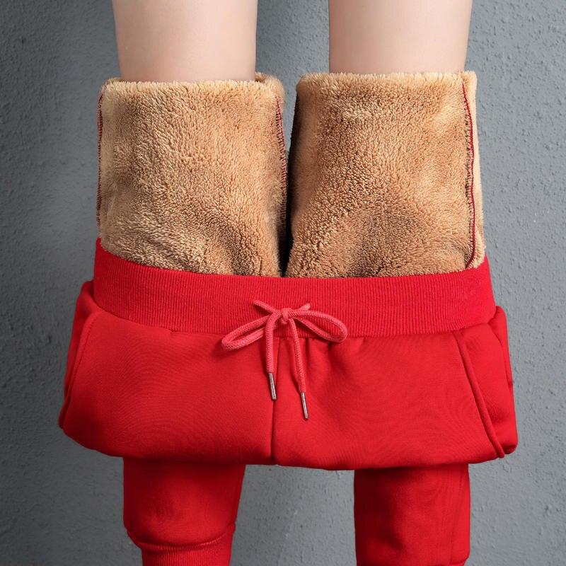 Grande taille 5XL agbs laine hiver pantalon femmes Plus velours épais coton pantalon taille haute Long pantalon Harem pantalons de survêtement C5148
