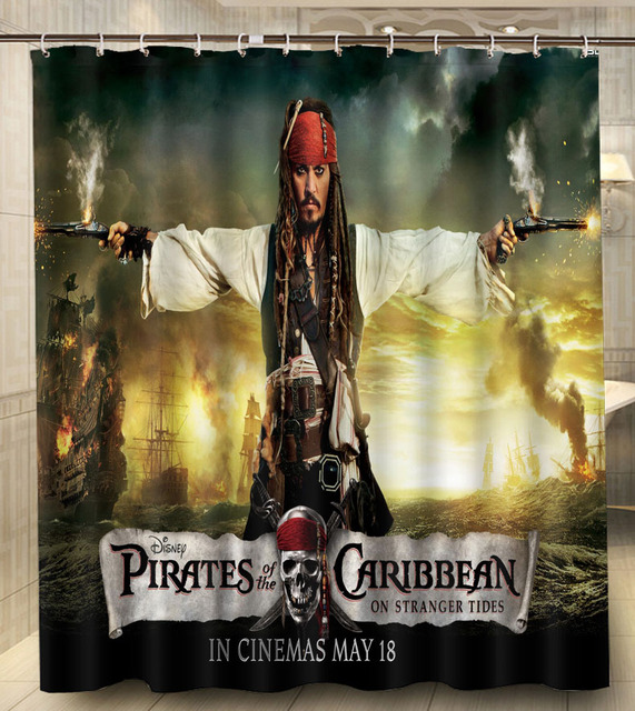 Pirates Of The Caribbean Jack Sparrow Modern Classical Custom Shower Curtain Waterproof 160x180cm Bathroom With