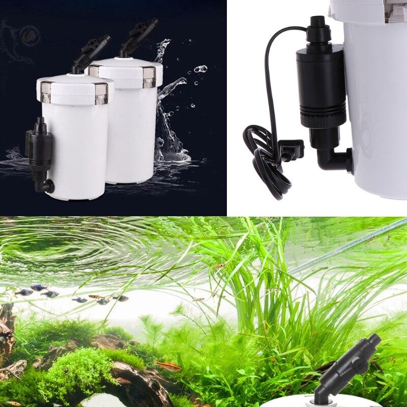HW-602B de seau de filtre externe Ultra-silencieux pour Aquarium Aquarium avec tuyau de pompe